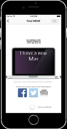 Nomen Omen Est iOS Apps - Quick MEMEs